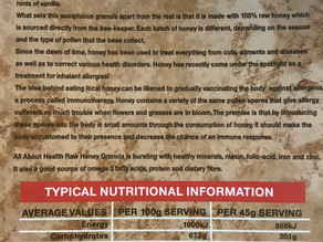 How to read a nutritional table