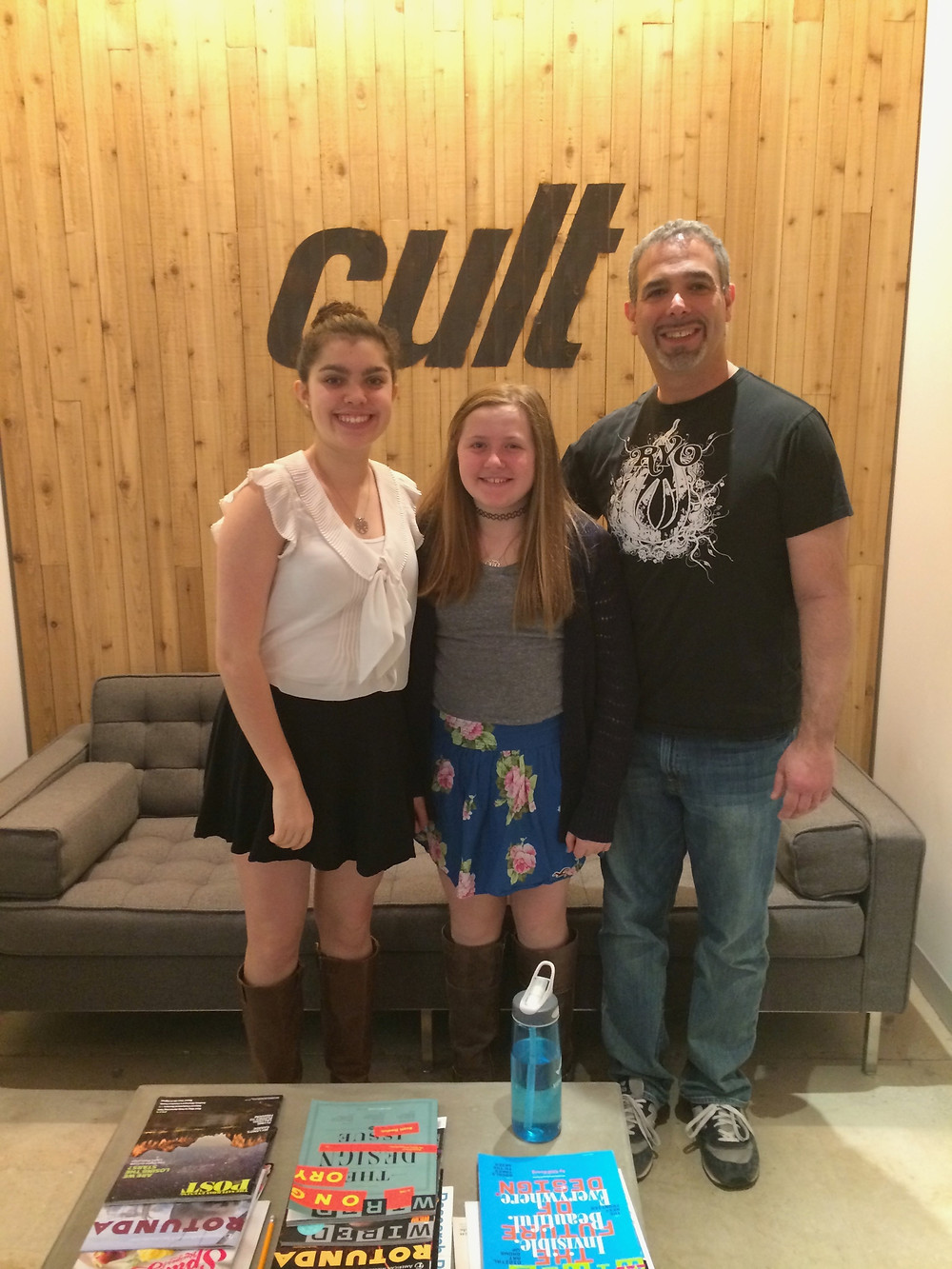 Emma and Quinn with the founder of CultHealth