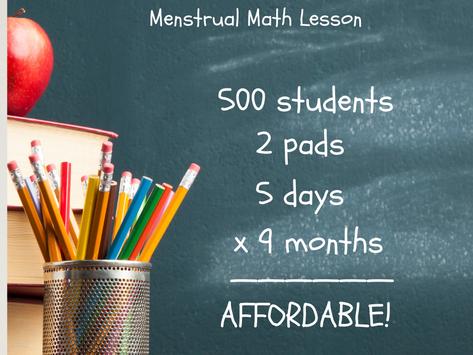 Menstrual Math Lesson