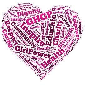 Educate, health, inspire, donate word cloud