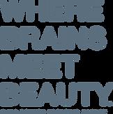 """Where Brains Meet Beauty"" Base Beauty Creative Agency logo"
