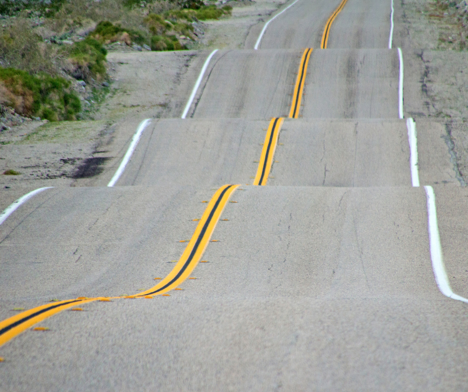 Bumpy roadway