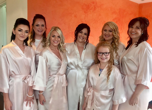 Lovely Natalie with her bridesmaids