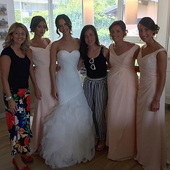 Faye and her bridemaids