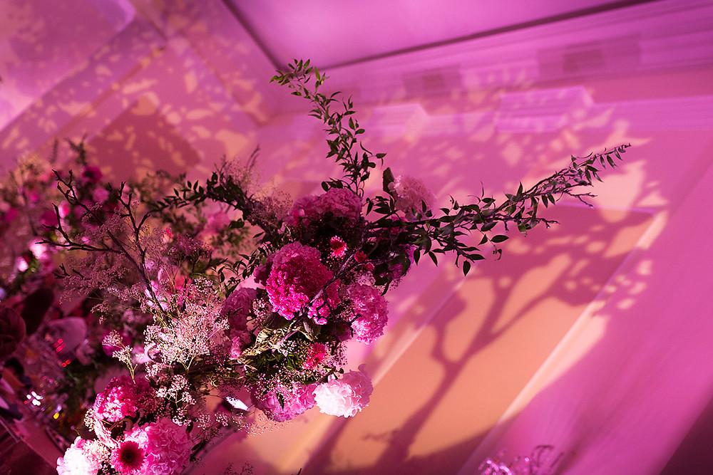 dekoracje światłem sali weselnej