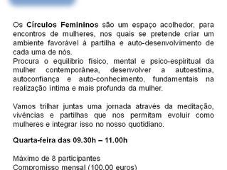 * CÍRCULOS FEMININOS *