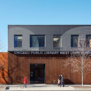Award-Winning Chicago Public Library with Architectural Metalwork by Bader Art Metal Refined Metal Fabrication