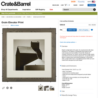 Crate & Barrel Grain Elevator Frame