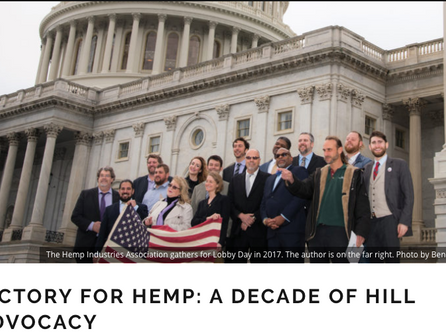 Victory for Hemp: A Decade of Hill Advocacy