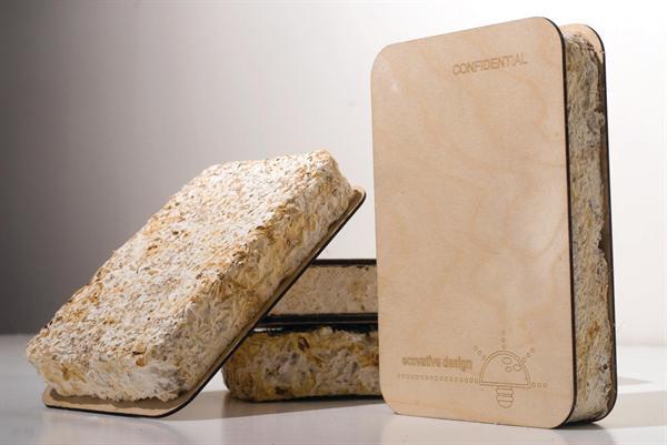 Above: Mycelium insulation from Evocative Design