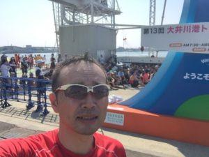大井川港トライアスロン大会(バイクメカサポートのお仕事)