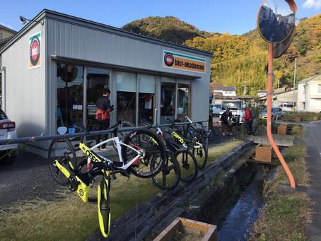 smrは雨天でお休みでした。bici-okadaman開店です。