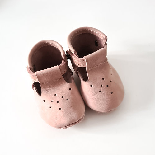 Baby Girl Pink Leather Shoes
