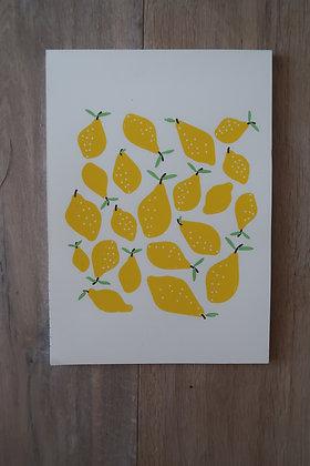 Zeichenblock mit Zitronen