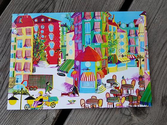 Postkarte die Stadt
