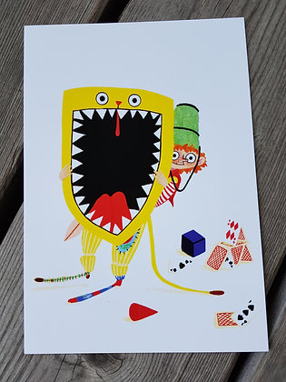 Postkarte Huch!
