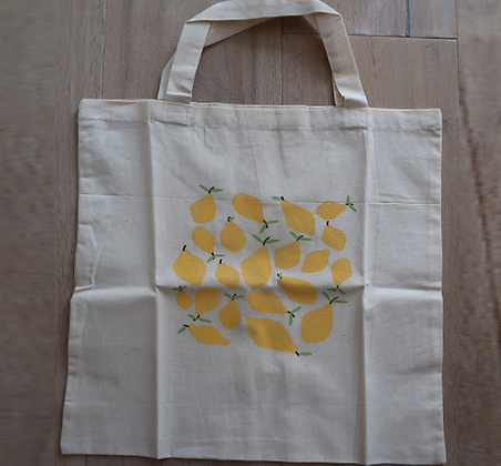 Shopper mit Zitronen-Siebdruck