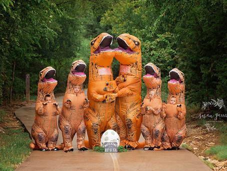 Dinosaur Baby Announcement!