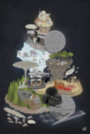 61x91 Sci-Fi Stories Star Wars Ep IV,V,V