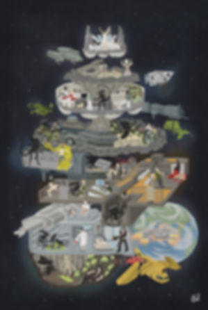61x91 Sci-Fi Stories Alien Original Saga