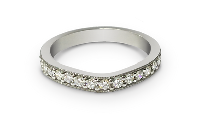 Luxury custom made wedding bands by Steven Anderson. Made in 18k gold, palladium or platinum
