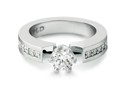 Engagement ring, Palladium 950, Round brilliant cut diamond, GIA diamond, Luxury custom jewellery, Perth Australia