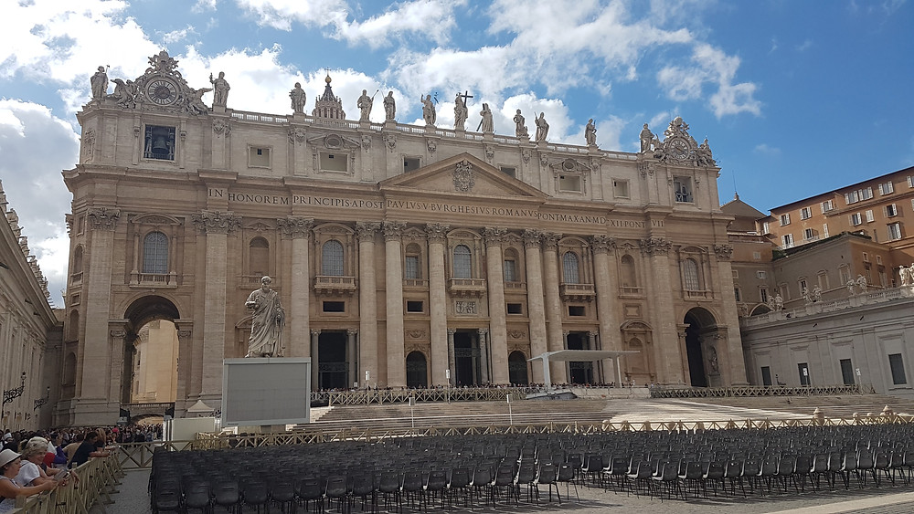 Entrance to St. Peter's Basilica, Vatican City