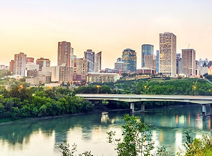 Beautiful view overlooking the river and downtown Edmonton. plan my trip to Edmonton