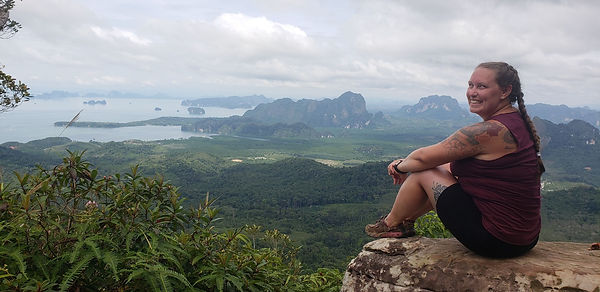 Sitting on a very high outcropping overlooking the Thai jungle and bay