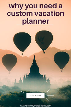 Pin image for why you need a custom vacation planner