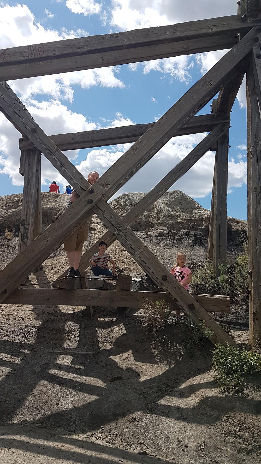 Star Mine Suspension Bridge, Drumheller Alberta, Canada
