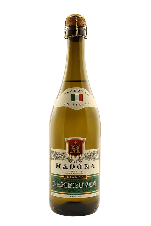 Vinho Lambrusco Branco Madona Emilia  750 ML