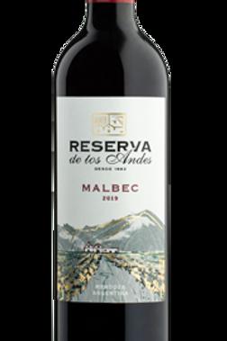 Vinho Tinto Reserva de Los Andes Malbec Argentina