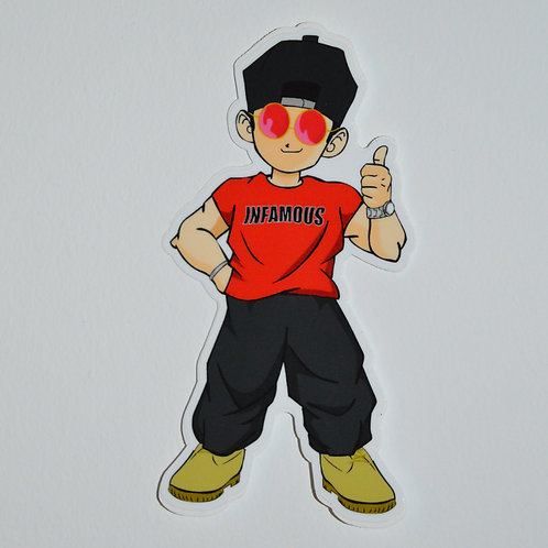Infamous Jay Anime Sticker