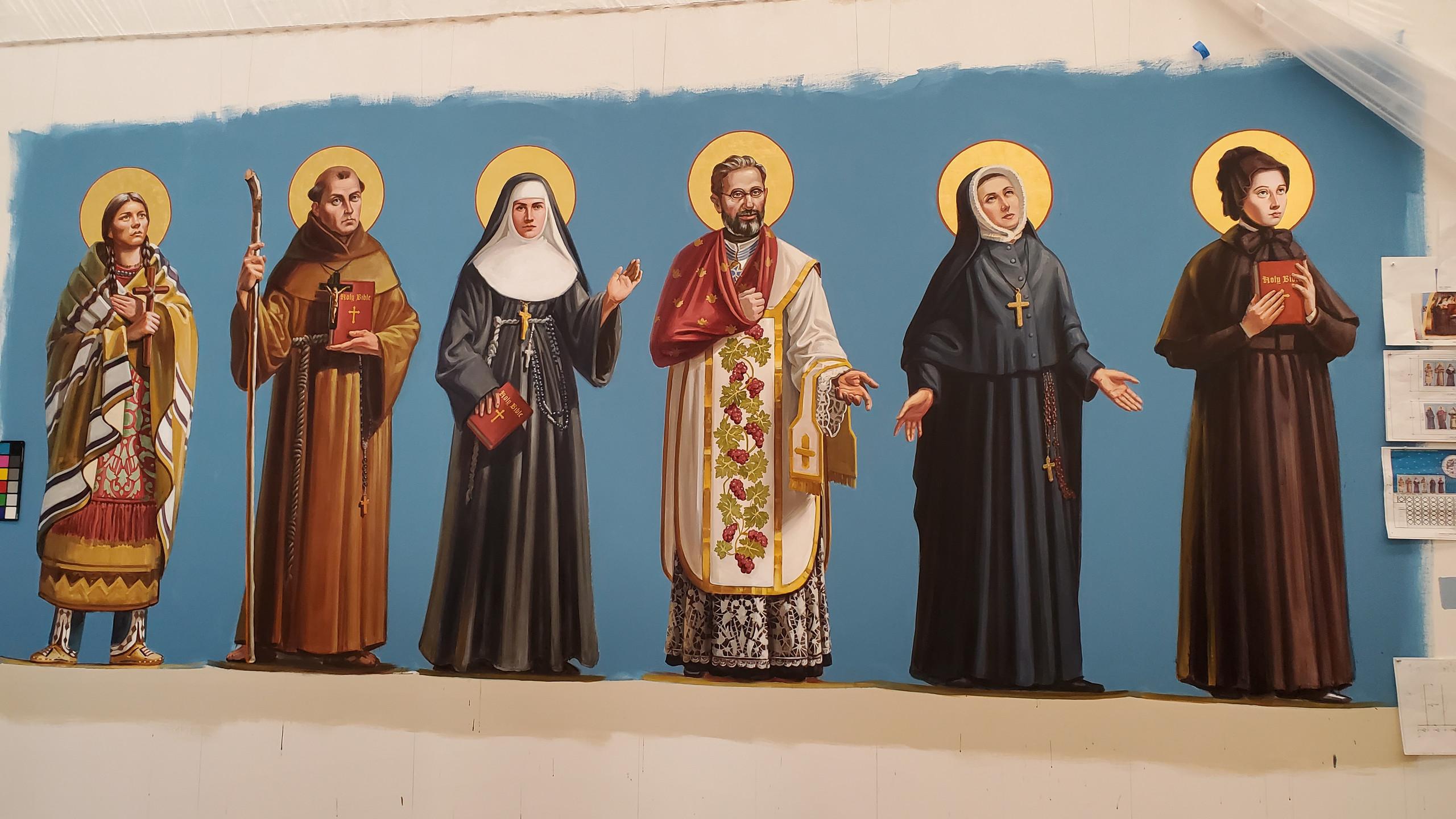Mural project for St. Elizabeth Ann Seton Catholic Church, Fort Collins, CO