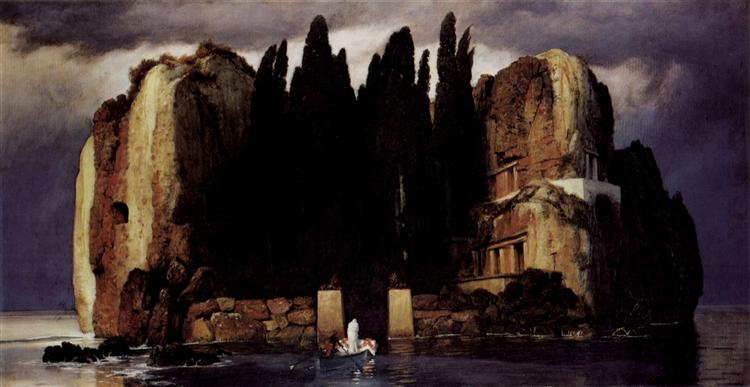 Isle of the Dead, 1886, Public Domain, Museum der Bildenden Kunste, Leipzig, Germany