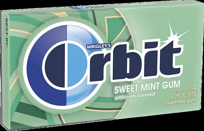 Orbit Sweet Mint Gum 14 Pieces