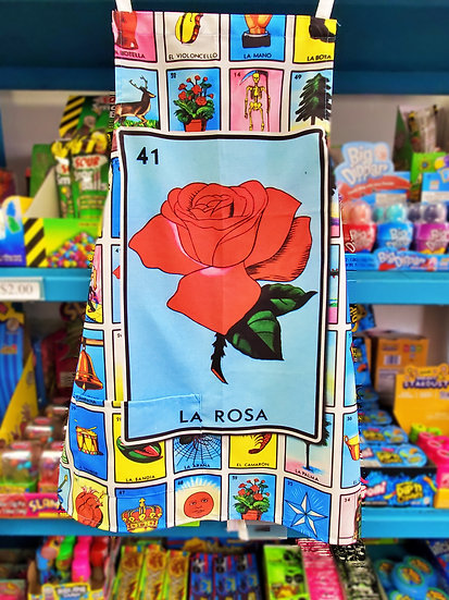 Loteria Apron La Rosa