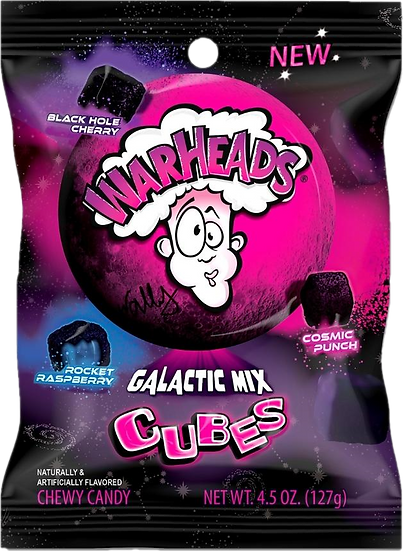 Warheads Galactic Mix Cubes 4.5oz