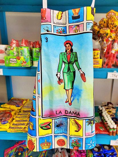 Loteria Apron La Dama
