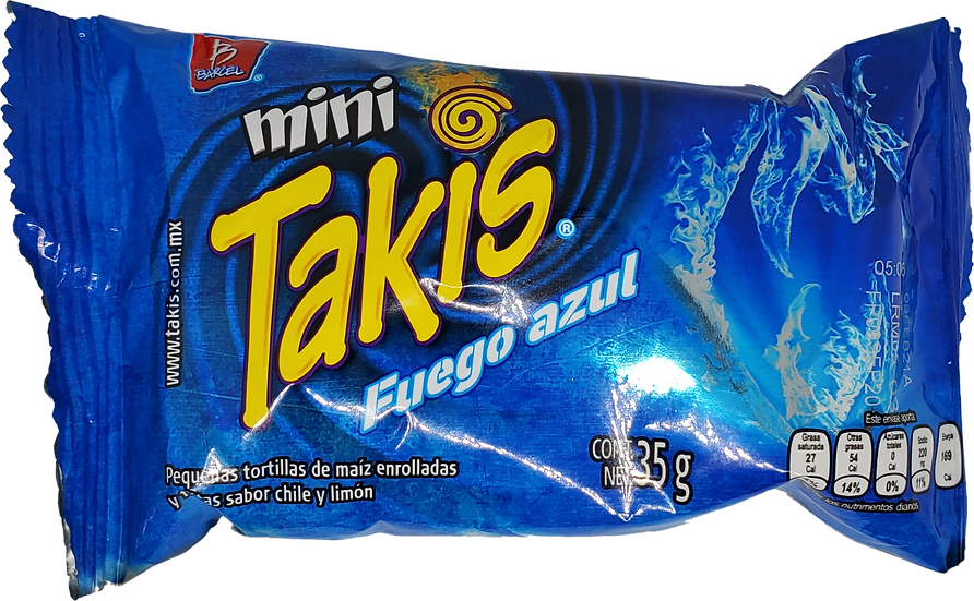 Mini Takis Blue Heat fuego azul 35g