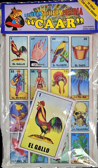 """Loteria """"CAAR"""" 20 Tablas"""