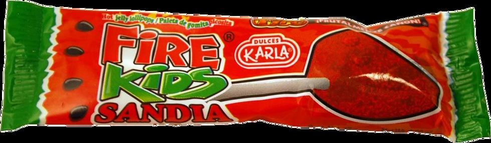 Fire Kids Watermelon Gummy Lollipop .45oz