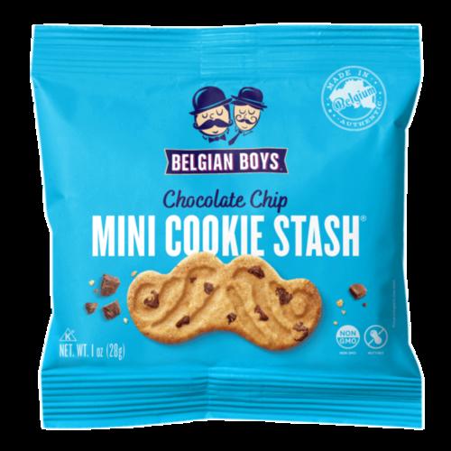 Belgian Boys Mini Chocolate Chip Cookie Stash 1oz