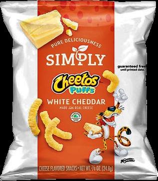 Cheetos Simply White Cheddar 24.8g