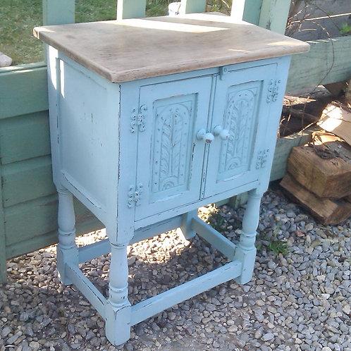 Blue Oak Cabinet
