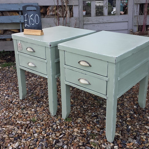 Green Side/Bedside Tables