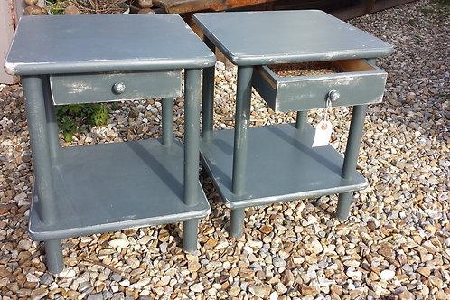 Dark Grey Side Tables/Bedside Tables