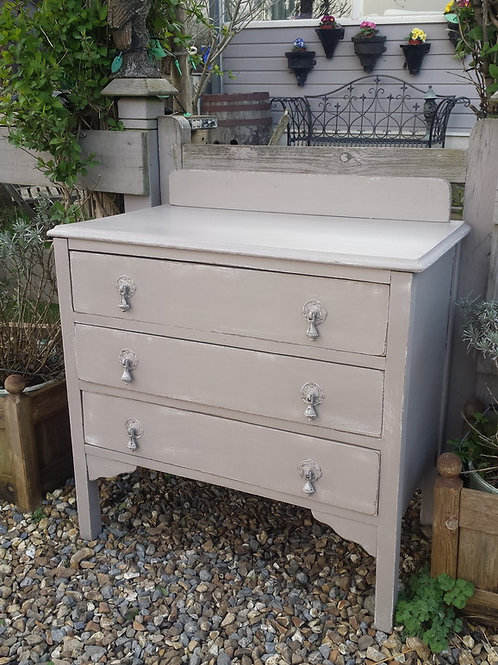 Three Drawer Vintage Chest Of Drawers