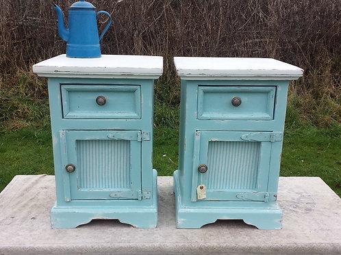 Blue Bedside Cabinets